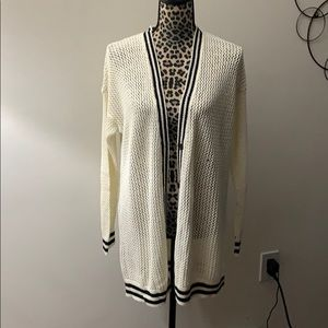 New American Eagle perforated long cardigan